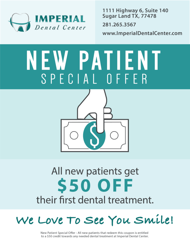 Imperial Dental Center Sugar Land Texas New Patient Special Offer v3